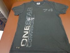 "Converse One Star ""74"" V Neck Tee Shirt Size Medium E4"