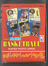 1991-1992 FLEER BASKETBALL 24 COUNT RACK PACK BOX RARE & MINT 72 HALL OF FAMERS
