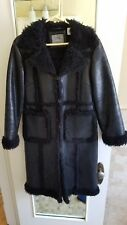Vintage Women's Winter Leather Trench Coat