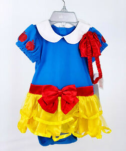 NWT Disney Store Princess Snow White Baby Girl Bodysuit Costume 9-12M Halloween