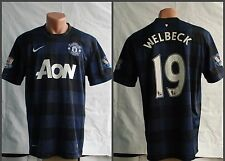MANCHESTER UNITED 2013 2014 #19 WELBECK AWAY FOOTBALL SHIRT JERSEY NIKE SIZE L