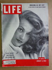 LIFE magazine Aug3 1953 NICOLE MAUREY-Korea-GARY COOPER Movie-NORMAN ROCKWELL