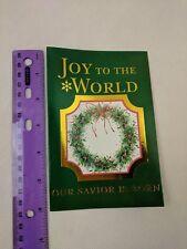 Paper Craft International Greetings Christmas Holiday Card Wreath Joy to World
