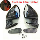 Pair Universal F1 Style Car Racing Rearview Side Wing Mirrors Blue Plane Glass Alfa Romeo 147
