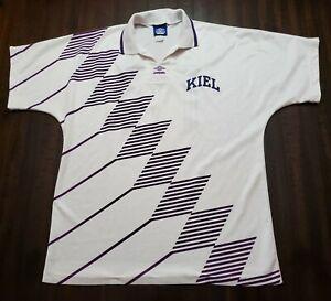 Vintage Umbro Keil Soccer Jersey White/Purple Mens Large
