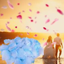 100pcs Wedding Decorations Atificial Flowers Rose Petals Bouquet Light Blue GJ