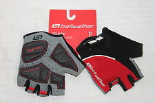 Bellwether Womens Gel Flex CYCLING GLOVES Gel Palm Fingerless Glove Large Red