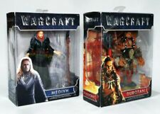 "WORLD OF WARCRAFT DUROTAN & MEDIVH 6"" ACTION FIGURE SET with BATTLE ACCESSORIES!"