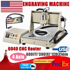 USB 4Axis 6040 CNC Router Engraver 1.5KW VFD Drilling Milling Machine+Controller