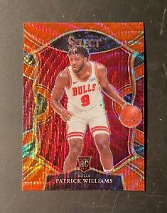 2020-21 Panini Select #64 Patrick Williams RC Concourse T-Mall Red Wave Prizm SP