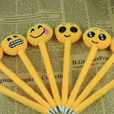 Korean Cute Ball Point Pen Ballpoint Emoji Stationery Student Office Prize Gift