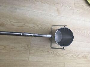 Stainless steel telescopic rod pole swivel dipper water swing sampler rod well