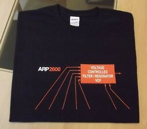 RETRO SYNTH T SHIRT SYNTHESIZER DESIGN ARP 2600 FILTER M L XL XXL