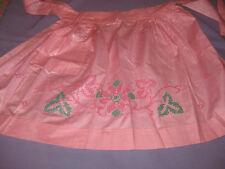 Vintage cotton Springmaid  Apron finished Embroidery Sabrosa Everglaze
