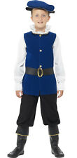 Tudor History Book Week Children Boys Smiffys Fancy Dress Costume - Age 7-9
