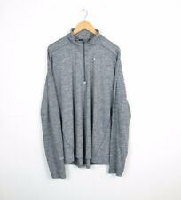 NIKE Mens Tracksuit Top Track Jacket GREY Polyester Dri-Fit Size XL EXTRA LARGE
