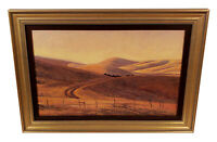DAVE SELLERS IMPRESSIONIST TONALIST HILLY CALIFORNIA LANDSCAPE OIL PAINTING ART