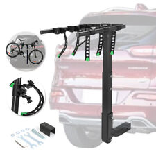 "3-Bike Carrier Rack Premium Hitch Mount Swing Down Bicycle Rack W/ 2"" Receiver"