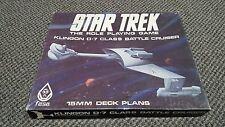 Star Trek Klingon D-7 Class Battle Cruiser 15MM Deck Plans - RPG - FASA - 2102