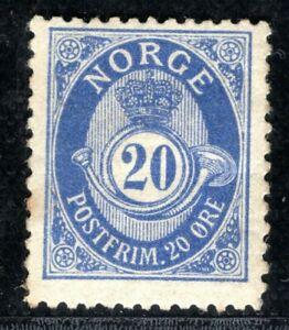 NORWAY Stamp 20o Post Horn Mint MM ORANGE81