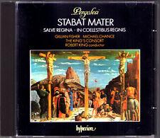 PERGOLESI: STABAT MATER Michael Chance ROBERT KING'S CONSORT CD Gillian Fischer
