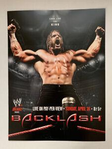 "WWF WWE Raw Poster Print Triple H Backlash 2006 4/30/06 Pro Wrestling 12"" x 16"""