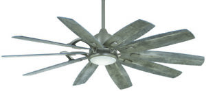 Minka-Aire F864L-BNK Barn 65 Ceiling Fan with LED Light and DC Motor in