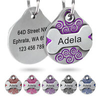 Dog ID Tags Personalized Front&Back Free Engraving Pet Cat Customized Nameplate