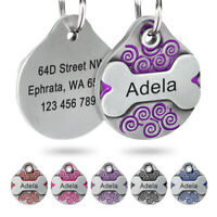 Personalized Dog Tags Engraved Custom Stainless Steel Bone Puppy Pet Name ID Tag