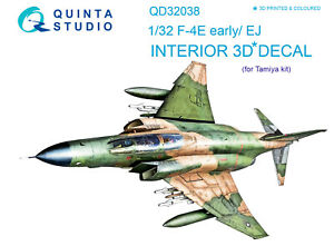 Quinta QD32038 1/32 F-4E early/F-4EJ 3D-Printed interior (for Tamiya kit)