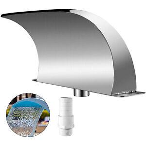 VEVOR Schwalldusche Wasserschwall Edelstahl Poolfontäne Unterer Wassereinlass