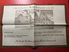 House of Seven Gables Garden Restaurant Salem Massachusetts MA Vintage Placemat