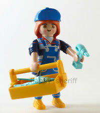 Playmobil Builder Handy Lady w Drill Screwdriver and Tools Mystery 13 9333 NEW