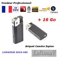 BRIQUET CAMÉRA CACHEE ESPION FULL HD 1080P + 16Go