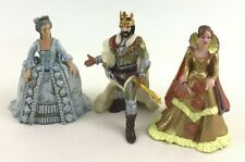 Papo Royalty Medieval Figures Queen King Princess 3 pc Lot 2007 Crown Gown Toy