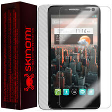Skinomi� Carbon Fiber Silver Phone Skin+SP for Alcatel One Touch Idol OT-6030/D