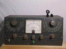 1955 HEATHKIT Q-Meter QM1 w/ FS=50UA Meter 12AT7 oscillator Radio Collector L@@K