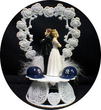 Baseball Rival Sport PICK Team Lover Groom Top Wedding Cake Topper Bride Funny