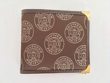 VINTAGE 80s NEW Brown Southern Pacific Lines RARE Woven Credit Card Bill Wallet