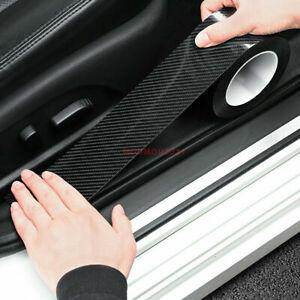 Carbon Fiber Auto Door Sill Protector Scuff Plate Trim Cover Sticker Accessories