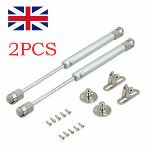 2x Gas Strut Stay Cabinet Door Hinge Lift Up Spring Flap Support 40-200N 270mm