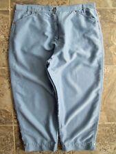 Woolrich Cropped Pants Capri 12 Large 1025 Sky Blue Rayon Poly 35x22 Sport 14