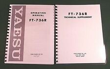 "Yaesu FT-736R Service & Instruction Manuals: w/ 48 pages of  11"" X 17"" Foldouts!"