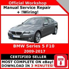FACTORY WORKSHOP SERVICE REPAIR MANUAL  BMW SERIES 5 F10 2009 - 2017 + WIRING