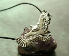 Navajo Eagle Totem Pendant & Necklace | UNISEX Native American Silver Jewellery