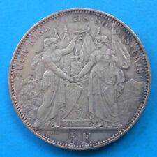 Suisse Switzerland Lausanne 5 francs 1876 concours de tir