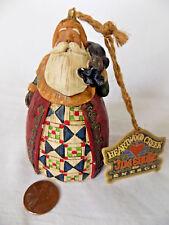 Jim Shore Heartwood Creek Santa Wilth Sack Ornament & Tag - 3 1/2 in. - EXC