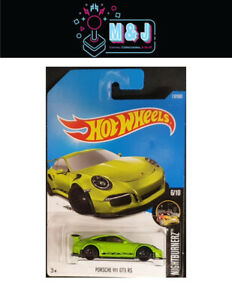 Hot Wheels Porsche 911 GT3 RS Green 6/10 No 117/365  Sealed  (Aussie Seller)