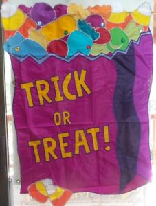 Trick or Treat Bag Applique Standard House Flag by Evergreen # 5443