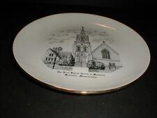 First Baptist Church of Wollaston Massachusetts MA Souvenir Plate 1953